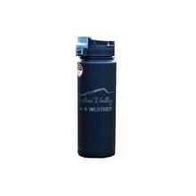 Hudson Valley Weather Engraved EcoVessel Water Bottle BLACK
