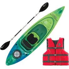 Perception Swifty 95 Deluxe Kayak Package Closeout BLUE/LIME