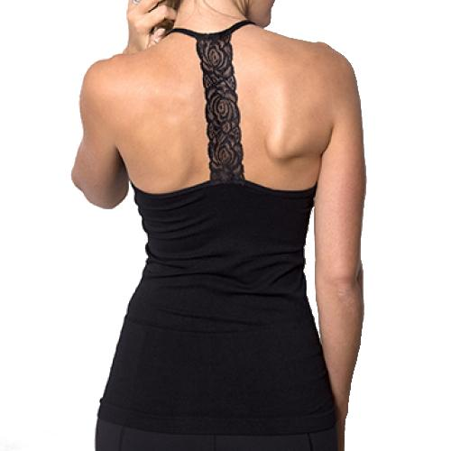 Coobie Women's Lace T Back Ultra Stretch Camisole
