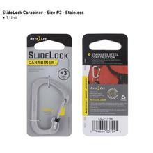 Nite Ize Slidelok Carabiner Size 3 in Stainless STAINLESS