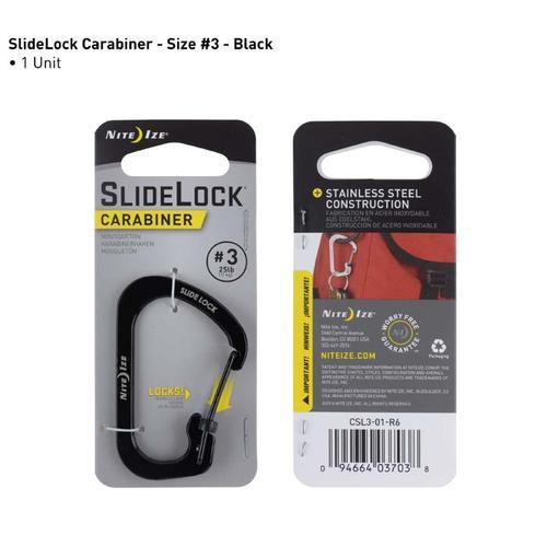 Nite Ize Slidelok Carabiner Size 3 in Black