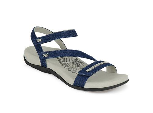 Aetrex Women's Gabby Quarter Strap Sandal in Denim
