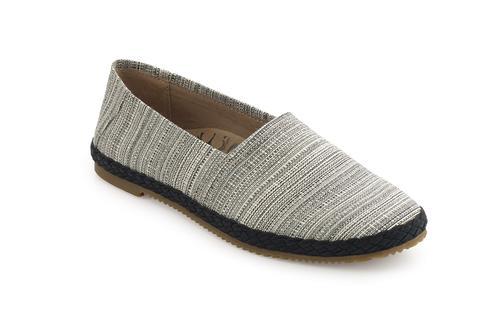 Aetrex Women's Kylie Slip On Shoe in Black Stripe