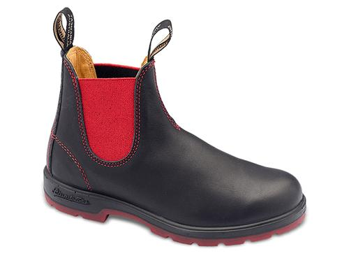 Blundstone Super 550 Boots in Black and Red