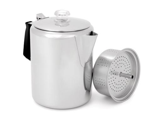 GSI Outdoors Stainless Steel 12 Cup Percolator with Silicone Handle