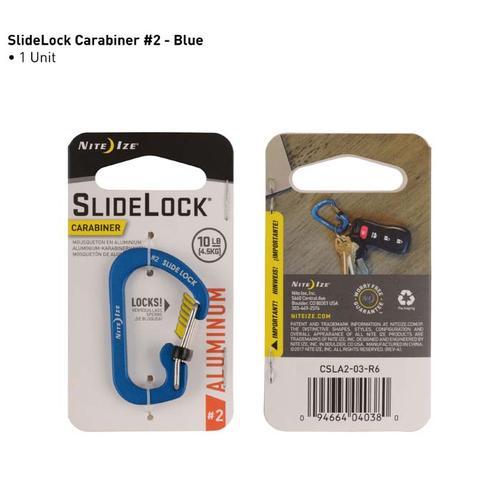 Nite Ize Aluminum Size 2 Slide Lock Carabiner Blue