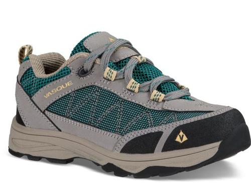 Vasque Kid's Monolith Low Ultradry Hiking Shoe - Gargoyle-Everglade
