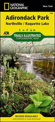 Adirondack Mountain Club Trail Map 744 : Northville - Raquette Lake