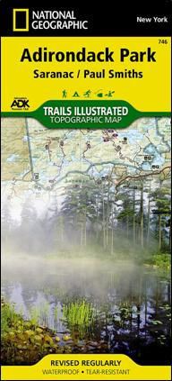 Adirondack Mountain Club Trail Map 746 : Saranac - Paul Smiths
