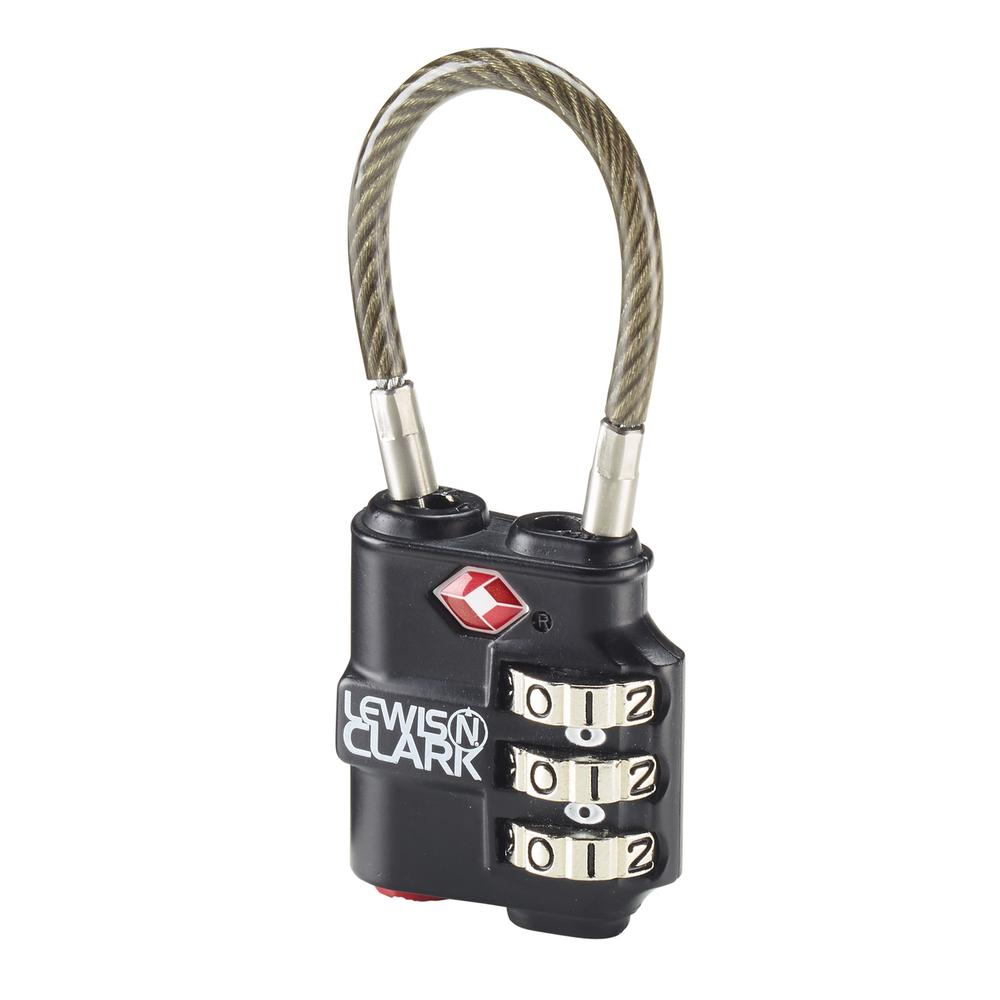 Lewis N Clark Travel Sentry Indicator Heavy Duty Cable Lock