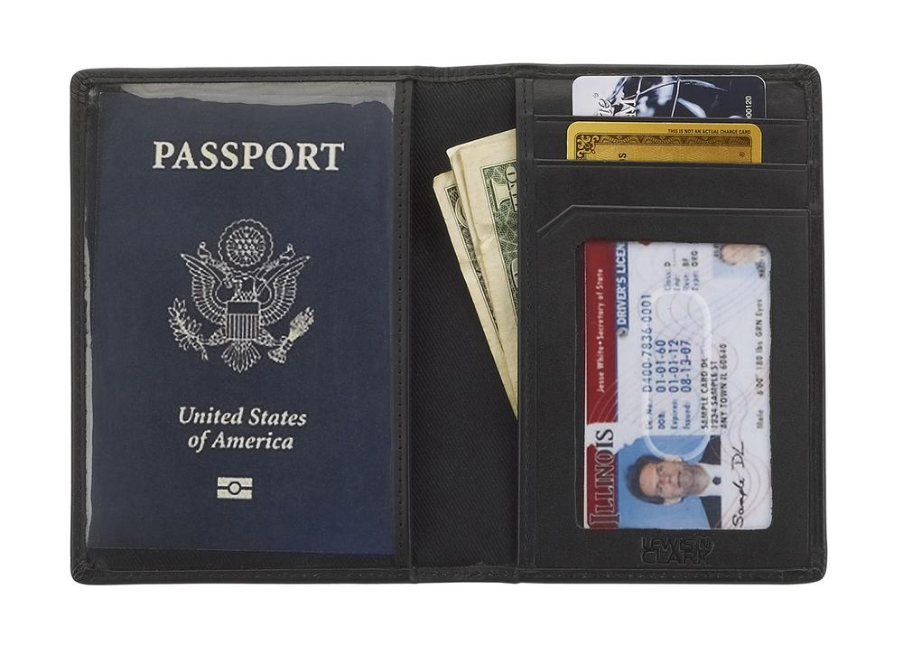 Lewis N Clark Rfid Blocking Leather Passport Wallet