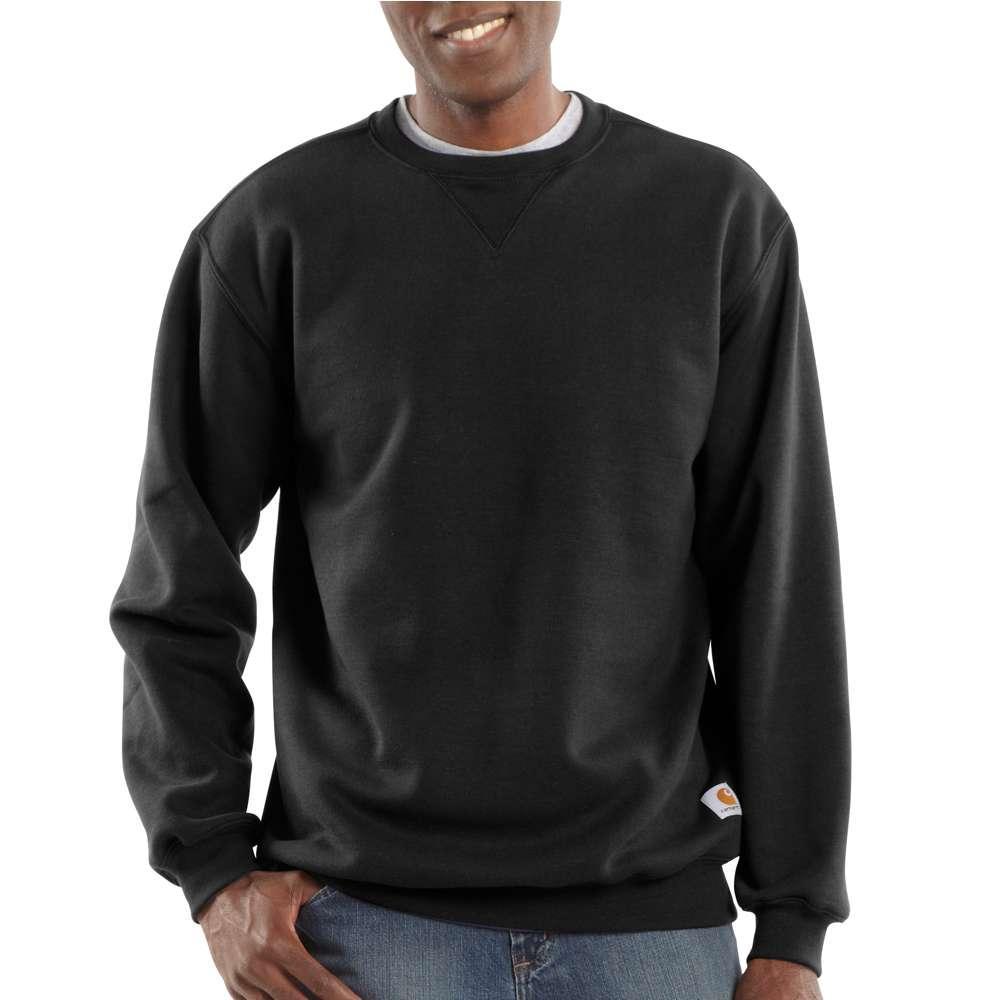 Carhartt Men's Midweight Crewneck Sweatshirt BLACK