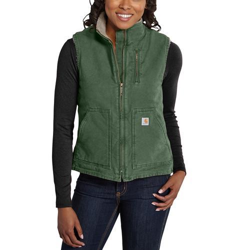 Carhartt Women's Sandstone Mock-neck Sherpa Lined Vest