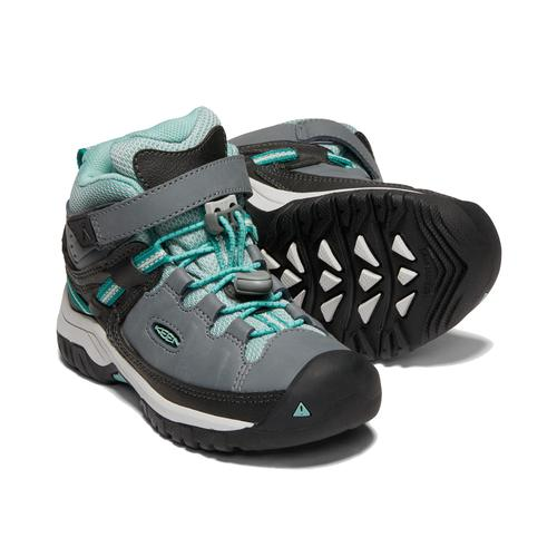 Keen Little Kids' Targhee Mid Waterproof Hiking Boot - Steel Grey