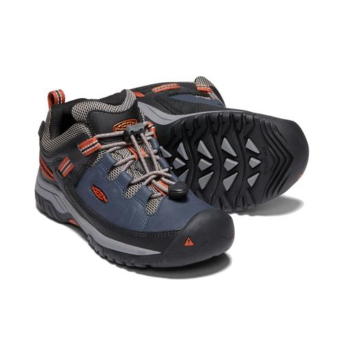 Keen Big Kids' Targhee Low Waterproof Hiking Shoe - Blue Nights