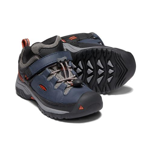 Keen Little Kids' Targhee Low Waterproof Hiking Shoe - Blue Nights