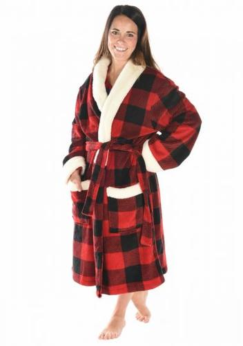 Lazy One Women's Moose Plaid Robe