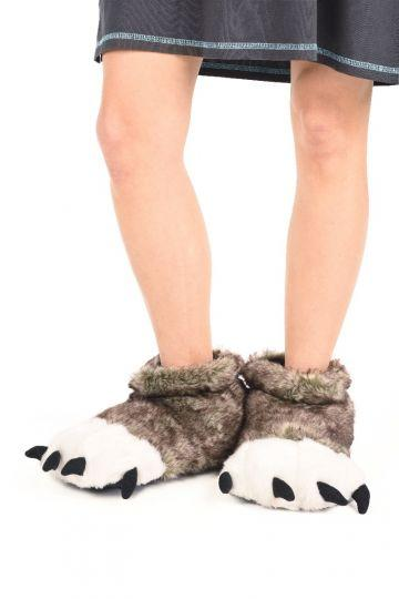 Lazy One Wolf Paw Slippers