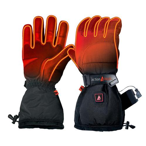 Action Heat Men's 5V Rechargeable Heated Snow Gloves