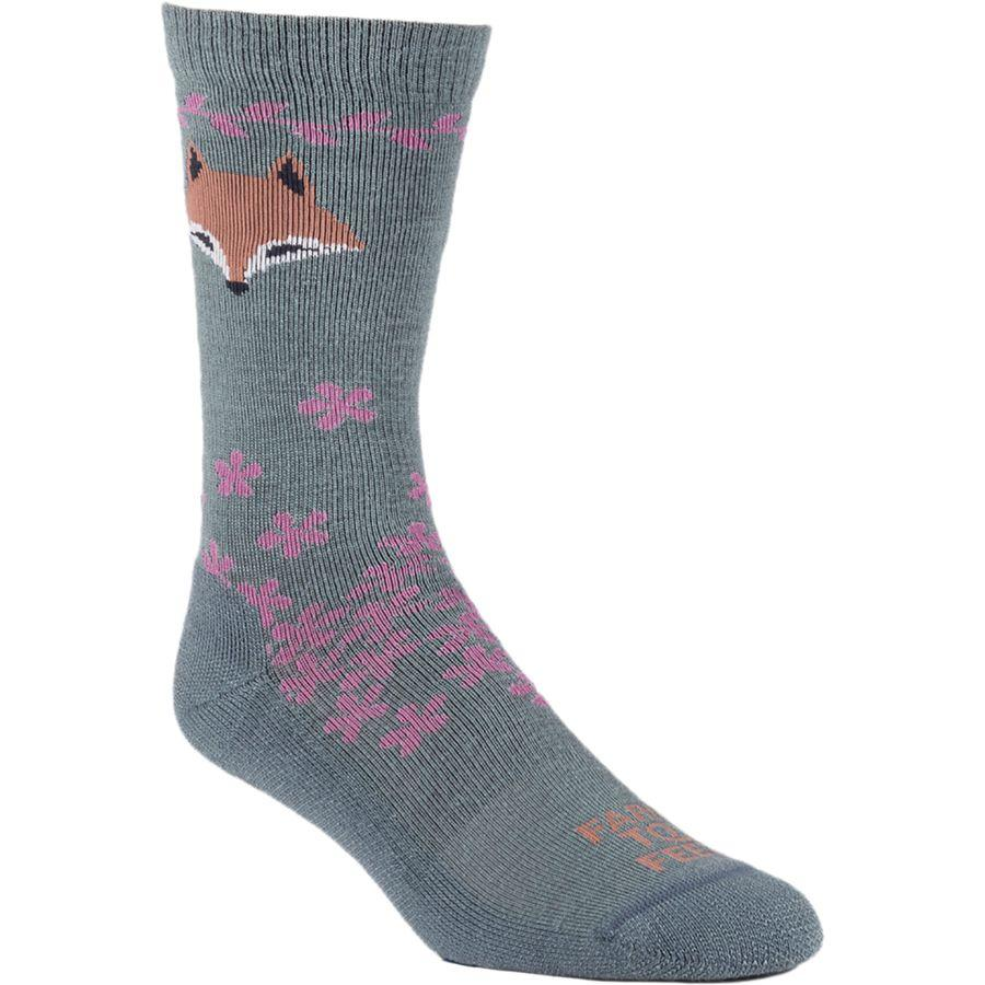 Farm To Feet Women's Emeryville Lightweight Socks BALSAM/BLUSH