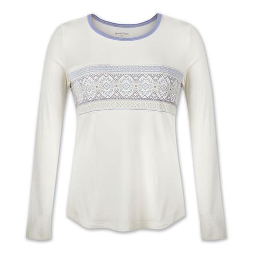 Aventura Women's Nordic Border Long Sleeve Lounge Shirt
