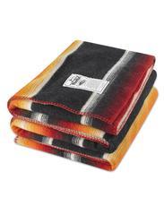 Woolrich Logan Ridge Sherpa Blanket 50x68 BLACKSTRIPE