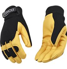 Kinco Grain Deerskin Drivers Glove with Pull Strap BROWN