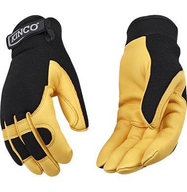 Kinco Grain Deerskin Drivers Glove With Pull Strap
