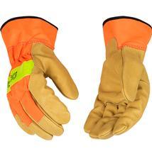 Kinco Hi-vis Orange and Grain Pigskin Glove with Safety Cuff SAFETY_ORANGE