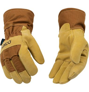 Kinco Hydroflector Lined Waterroof Suede Pigskin Palm Glove with Safety Cuff