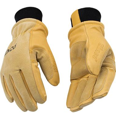 Kinco Lined Heavy Duty Premium Grain and Suede Pigskin Driver Glove