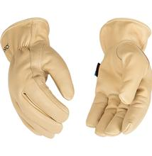 Kinco Hydroflector Lined Water Resistant Grain Cowhide Driver Glove TAN