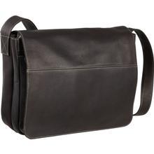Le Donne Leather Full Flap Messenger Bag CAFE