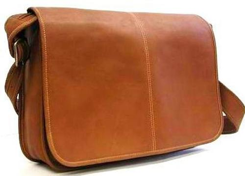 Le Donne Leather Classic Flap Over Messenger Bag