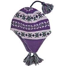 Snowstoppers Kid's Sherpa Knit Hat PURPLE
