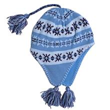 Snowstoppers Kid's Sherpa Knit Hat SKYBLUE