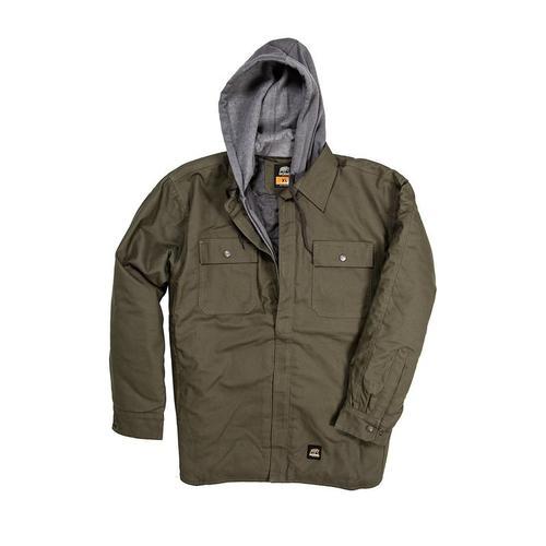 Berne Men's Hooded Shirt Jacket
