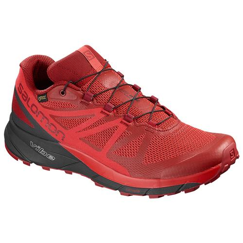Salomon Men's Sense Ride GTX Invisible Fit Running Shoe Red Dahlia