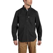 Carhartt Men's Foreman Solid Long Sleeve Work Shirt BLACK