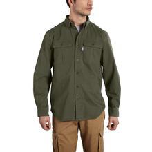 Carhartt Men's Foreman Solid Long Sleeve Work Shirt DARKOLIVE