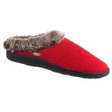 Acorn Women's Chinchilla Clog Slipper RED