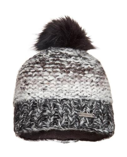 Screamer Chellene Faux Fur Hand Knit Beanie