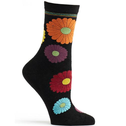 Ozone Women's Mini Flower Power Angora Sock