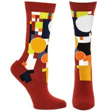 Ozone Frank Lloyd Wright Coonley Playhouse Sock RED