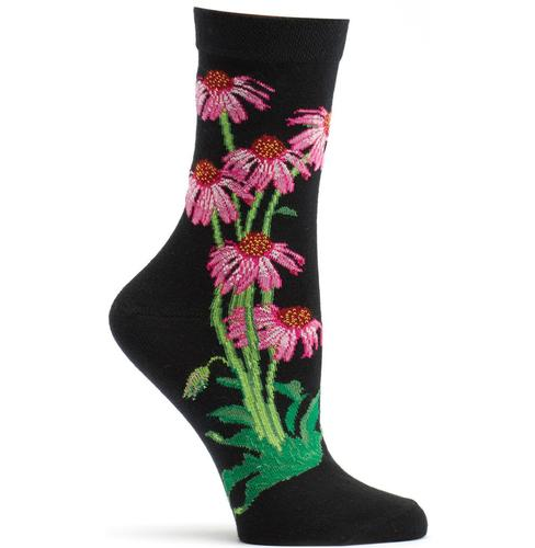 Ozone Women's Echinacea Apothecary Floral Sock