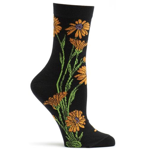 Ozone Women's Marigold Apothecary Floral Sock