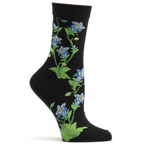 Ozone Women's Gentian Apothecary Floral Sock