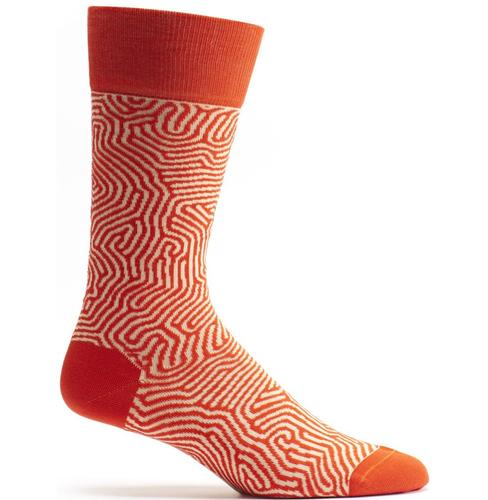 Ozone Men's Brain Coral Sock