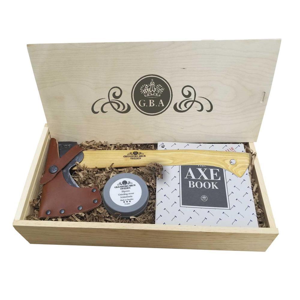 Gransfors Bruks Wildlife Hatchet Gift Box With Sharpening Stone
