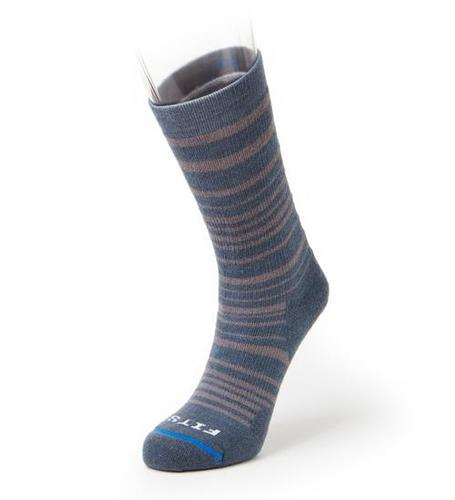 Fits Medium Hiker Striped Crew Sock